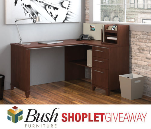 bush desk giveaway Bush Corner Desk Giveaway!