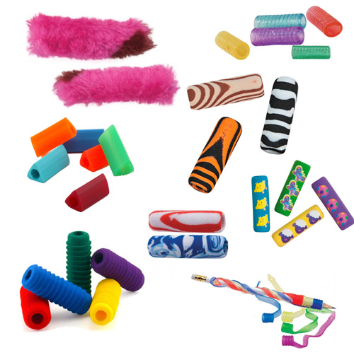 fun colorful pencil grips Fun Pencil Grips!