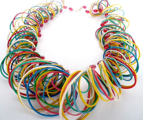 rubber band necklace Best of Office Weekend Roundup 127