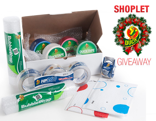 shoplet duck holiday giveaway Duck Tape Holiday Wrapping and Shipping Giveaway!