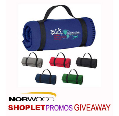Shoplet Promos Norwood Fleece Blanket Giveaway ShopletPromos Microfleece Blanket Giveaway