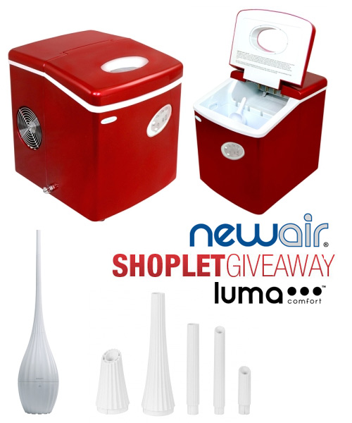 ice maker humidifier shoplet giveaway1 Win a NewAir Ice Maker or a Luma Comfort Humidifier!