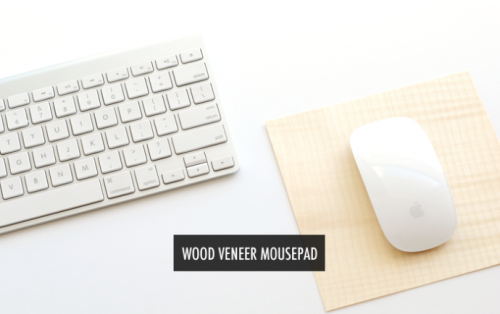 wood veneer mousepad 500x314 Best of Office Weekend Roundup 131