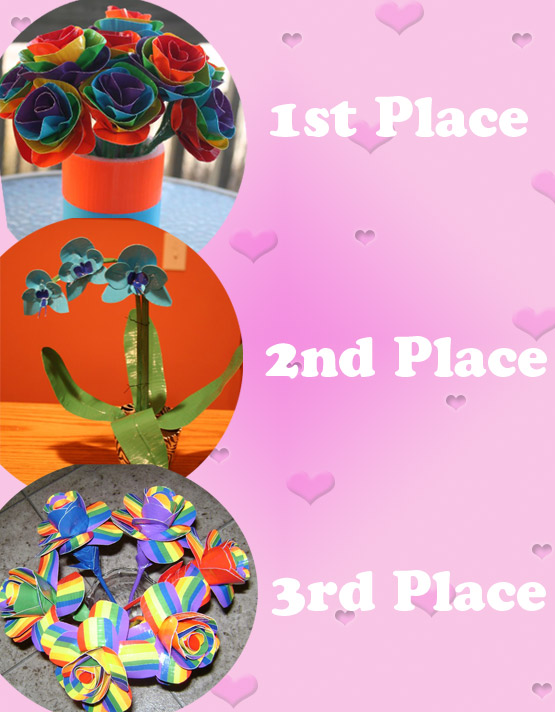 Shoplet Duck Tape Valentines Giveaway Winners Valentines Duck Tape Flower Giveaway