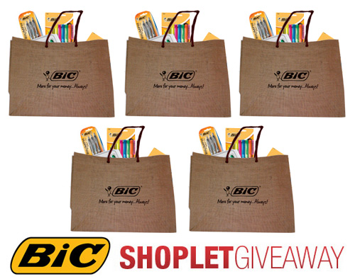 bic eco friendly bag giveaway Win a Bag Full of BIC Products!