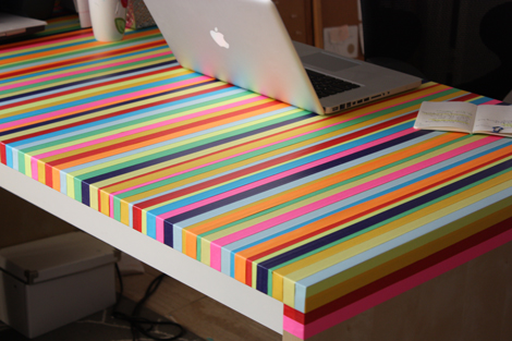 colorful tape desk Best of Office Weekend Roundup 135