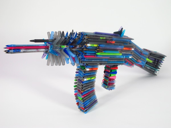 gun made of pens Best of Office Weekend Roundup 139