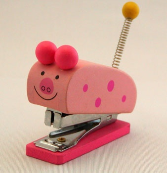 my piggy stapler My Piggy Stationery