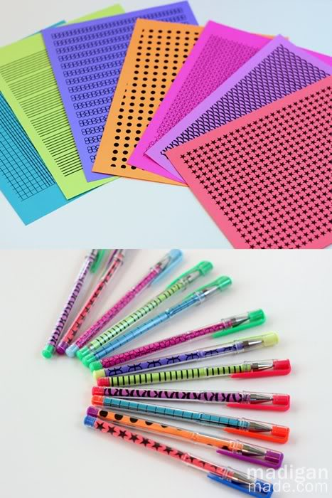 page neon paper pens Best of Office Weekend Roundup 139
