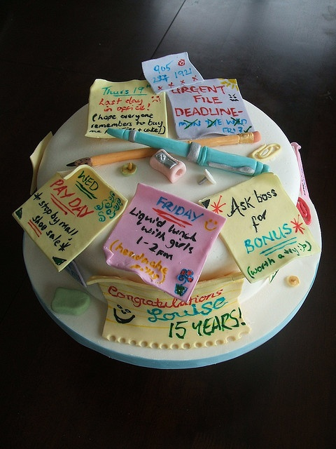 post it note retirement cake Cakes for Your Office Party