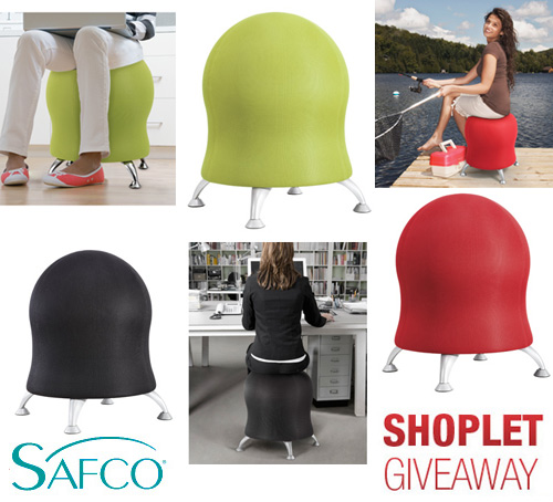 safco zenergy ball chair giveaway Win a Safco Zenergy Ball Chair!!