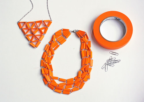 tape paperclip necklace Best of Office Weekend Roundup 141