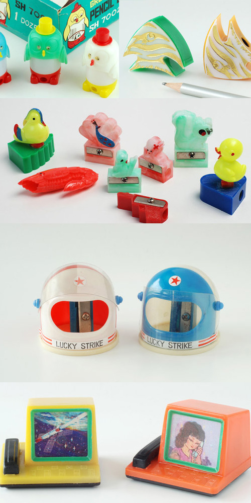 the opposite shop vintage pencil sharpeners Adorable Vintage Pencil Sharpeners