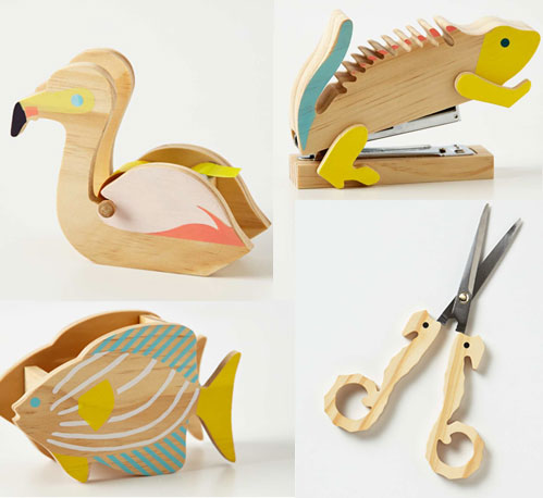 anthropologie-animal-desk-set