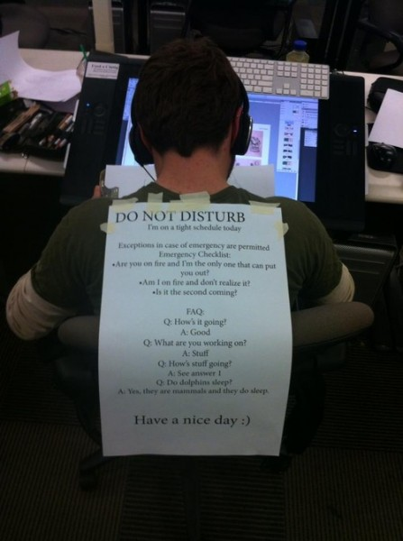 do not disturb sign Best of Office Weekend Roundup 144