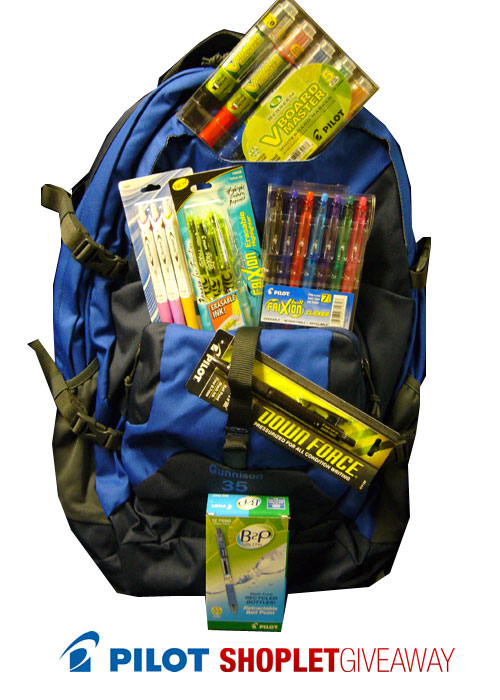 pilot pen backpack giveaway Win a Backpack Full of Pilot Goodies!
