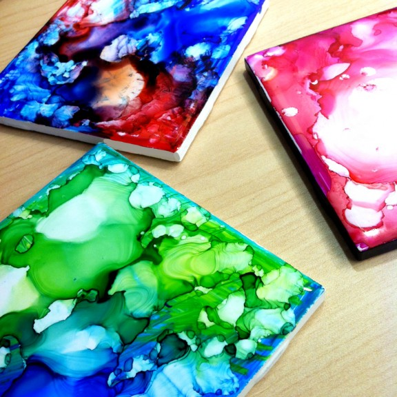 sharpie-coasters