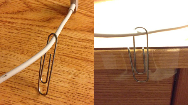 paper clip to hold cords from falling Best of Office Weekend Roundup 148