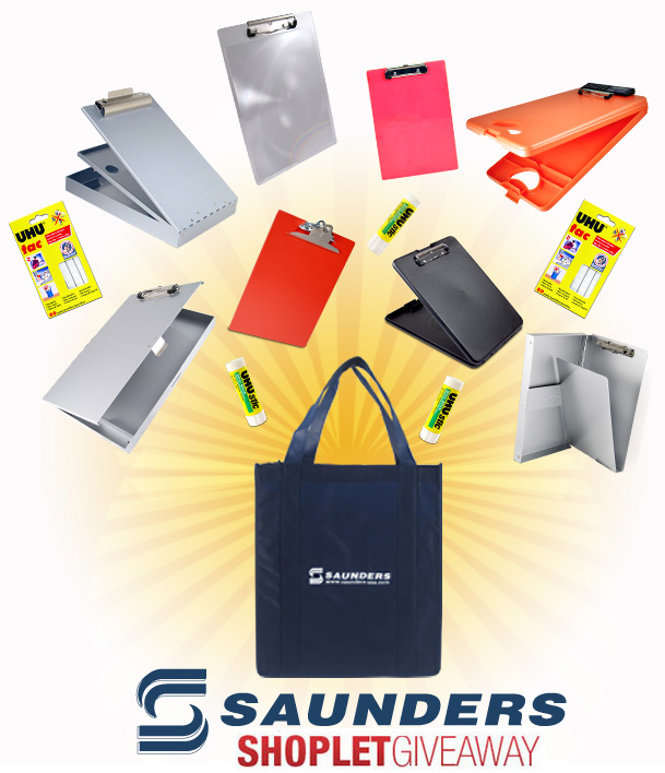 saunders shoplet giveaway Win a Saunders Tote Bag Full of Supplies!