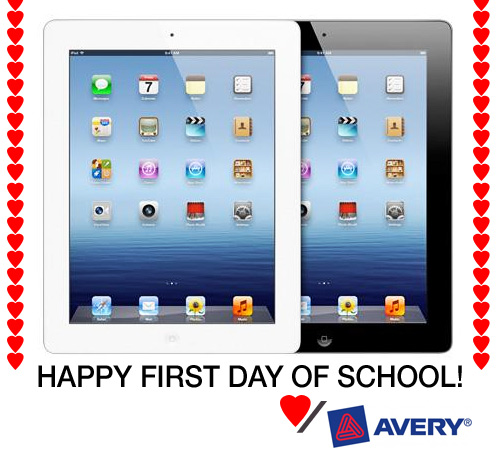 avery ipad school giveaway Win an iPad for School from Avery!