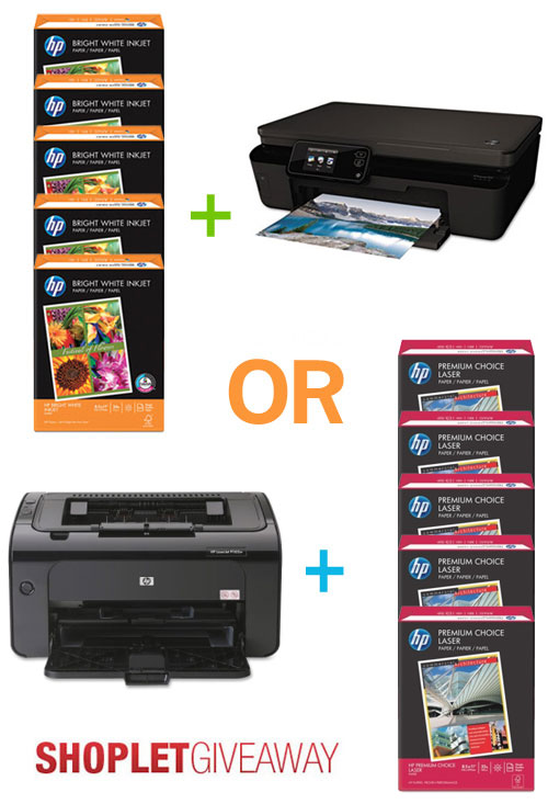 hp printer giveaway Two HP Printers + 10 Reams of HP Paper to WIN!