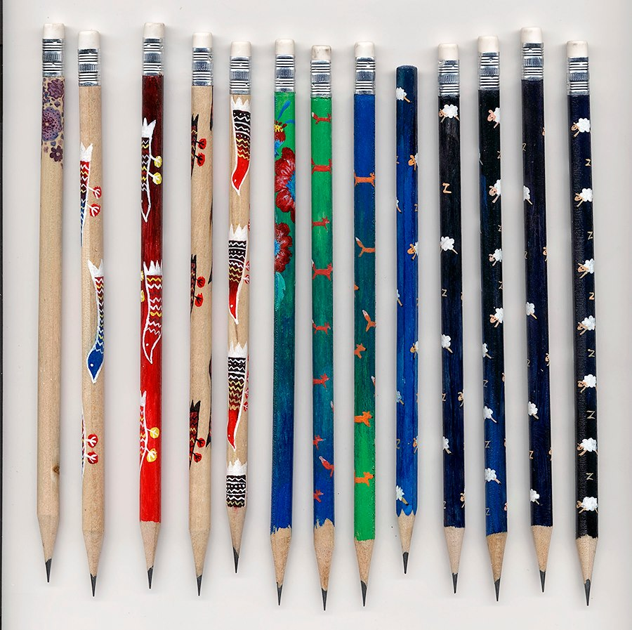 jr pencils 4 JR Hand   Painted Pencils