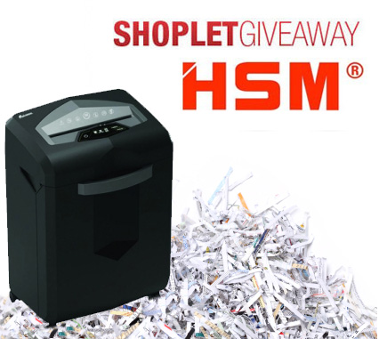 Win an HSM Shredder with simple-to-use features and convenient design
