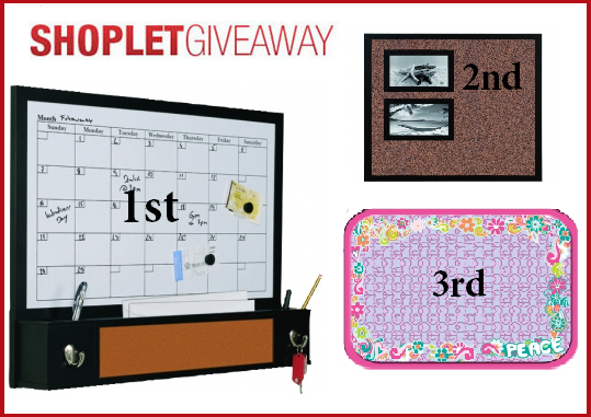 giveaway1 Win a MasterVision Dry Erase or Cork Board