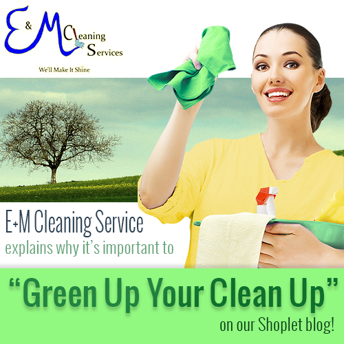 E + M Cleaning Green Up Your Clean Up!