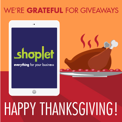 11.27 The New Shoplet Celebrates YOU: Win a New iPad Mini!!
