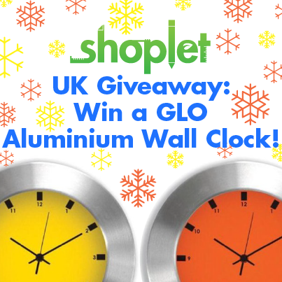 12.10 Shoplet UK Giveaway: Win a GLO Aluminum Contemporary Wall Clock!