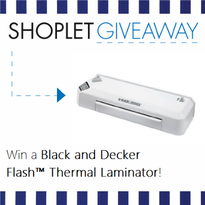 12.31 WIN a Black and Decker Flash Thermal Laminator