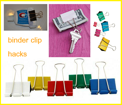 cover 13 Binder Clip Hacks!