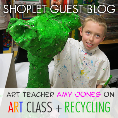 AMY Jones graphic Art Teacher Amy Jones on Art Class + Recycling