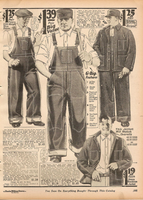 1927 CWS  Page 195 overalls [PART I] The Working Mans Wardrobe: 1920s 50s