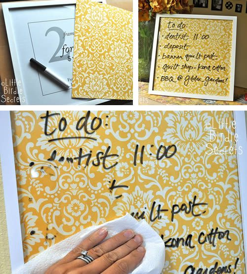 diy dry erase board paperframe 500x555 Best of Office Weekly Roundup 178