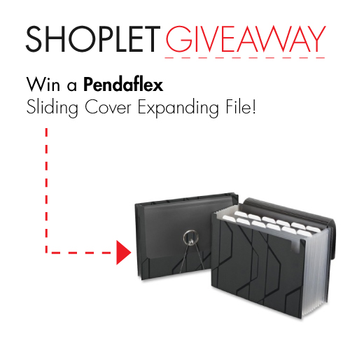 3.24 Win a Pendaflex Sliding Cover Expanding File!
