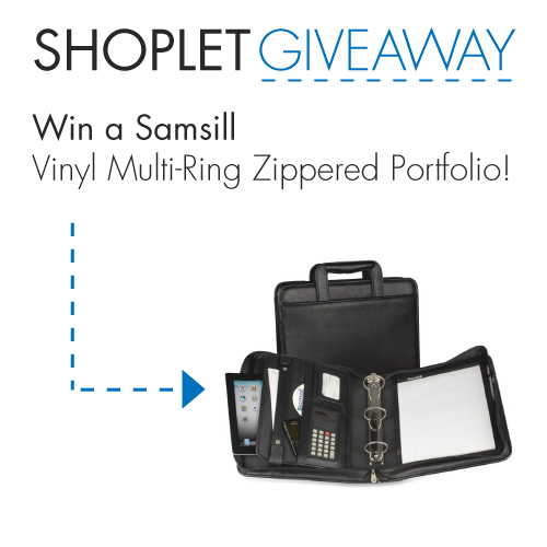 Samsill Multi Ring Zipper WIN a Vinyl Multi Ring Zippered Portfolio from Samsill!