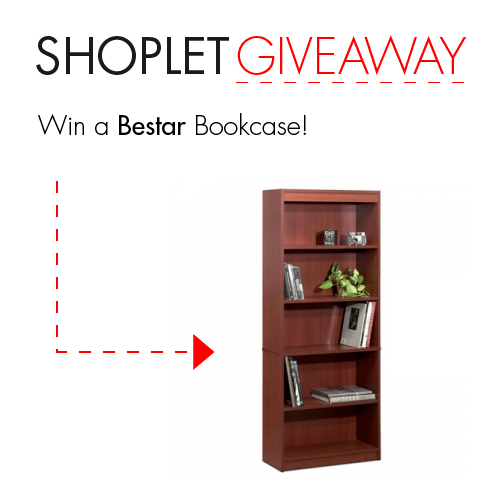 Untitled2 WIN a Bestar Bookcase!