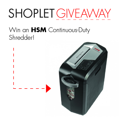 giveaway hsm blog WIN a HSM Continuous Duty Shredder!