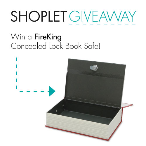 giveaway  51 WIN a FireKing Concealed Lock Book Safe!