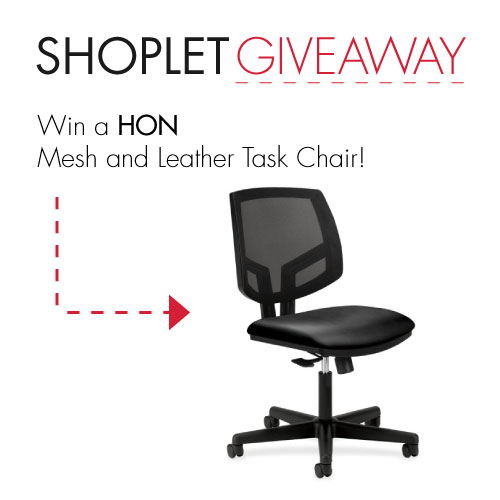 giveaway blog hon2 WIN a HON Volt Mesh Leather Task Chair!