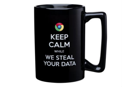 Microsoft nudge at google chrime anti google coffee mug