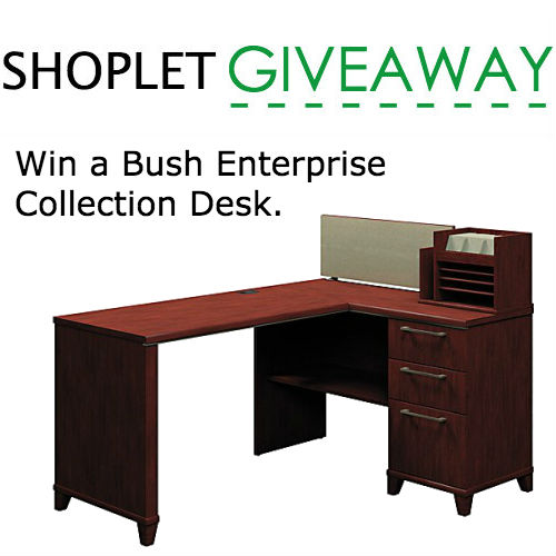 win a bush enterprise collection desk closed - Bush Office Furniture
