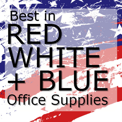Best in Red White + blue office supplies