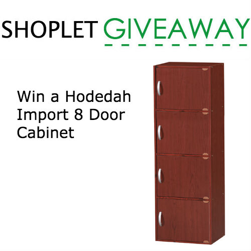 Win a Hodedah Import 8 Door Cabinet