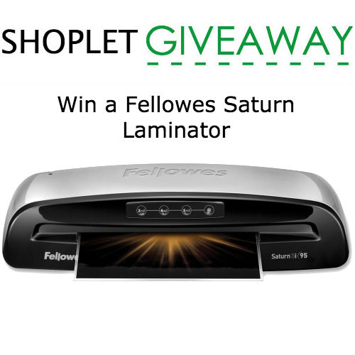 Win a Fellowes Saturn Laminator