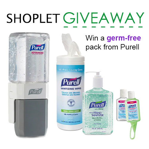 Win a germ-free pack from Purell!