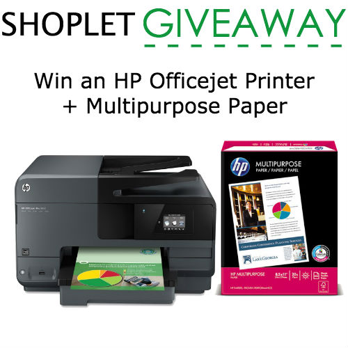 Win an HP Officejet Printer + Multipurpose Paper