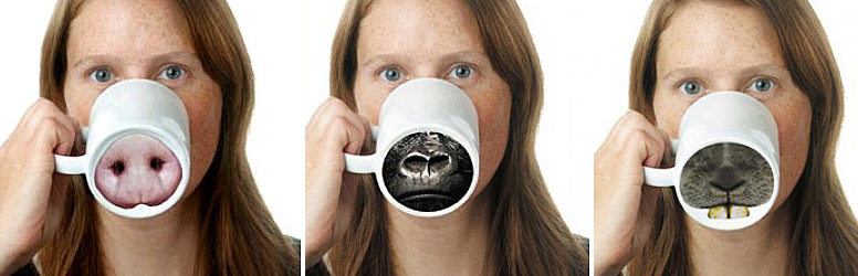 Animal Nose Mugs